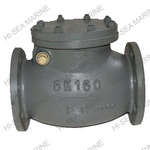 Marine Cast Iron Swing Check Valve JIS F7372 5K
