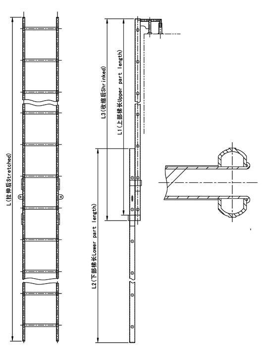 Ladder For Draft Reading Supplier China Marine Ladder