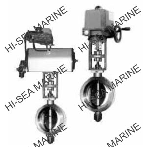 Pneumatic/Electric baffle butterfly valve
