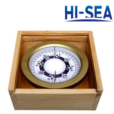 100mm Plastic Marine Compass with 4 Inches Wooden Case