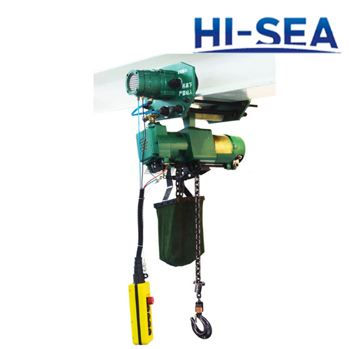 1T Pneumatic Chain Hoist with Trolley