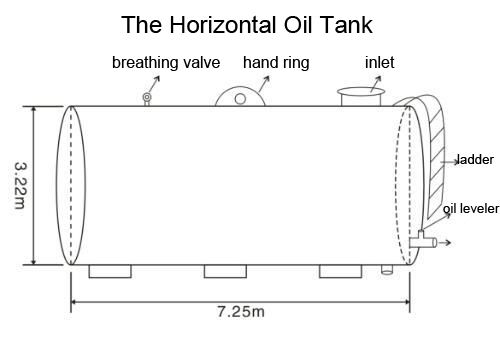 Cylindrical Oil Tank