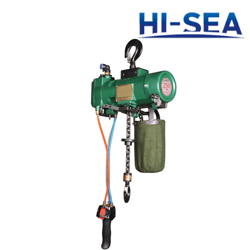 Mini Pneumatic Chain Hoist with Suspension Hook