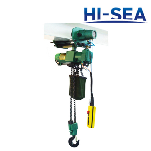 2T Pneumatic Hoist with Trolley Combined