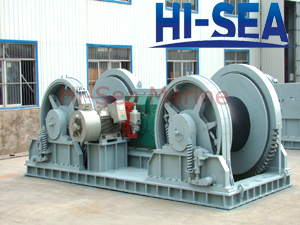 300KN Electric Waterfall Mooring Winch