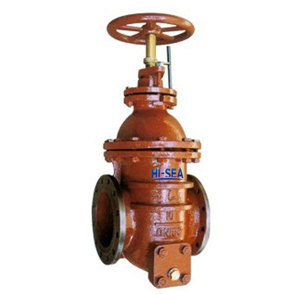 Marine Ductile Iron Flanged Oil tank Gate Valve CB/T3591-1994
