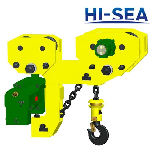 2T Low Headroom Pneumatic Chain Hoist