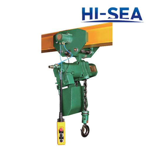 3T Pneumatic Chain Hoist with Trolley