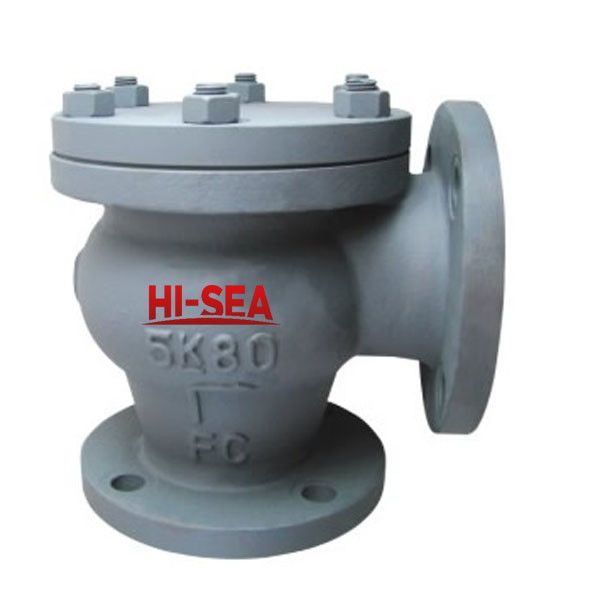 Marine Cast Iron Lift Check Angle Valve JIS F7359 5K