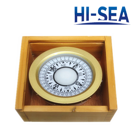 75mm Plastic Marine Compass with 3 Inches Wooden Box