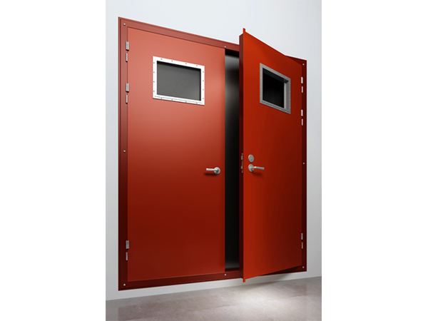 A60 Fireproof Double-Leaf Steel Door