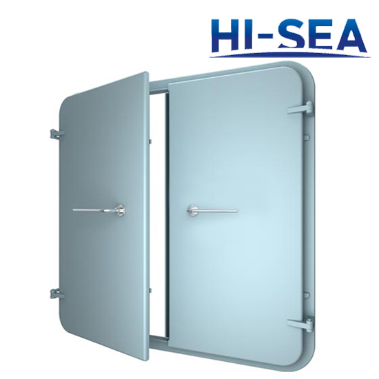 A60 Weathertight Double-Leaf Steel Door