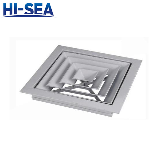 Adjustable square air diffuser FS(K)