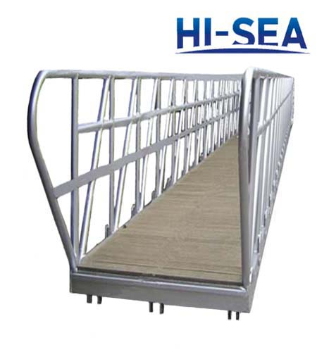 Aluminum Dock Gangway with Wooden Step