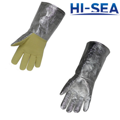 Aluminum Foil Heat Resistant Gloves Supplier China Fire