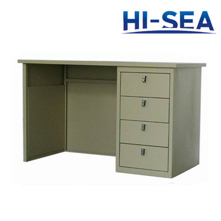 Aluminum Marine Desk with Four Drawers