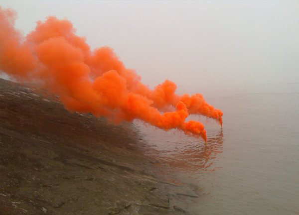 Marine Orange Smoke Signal