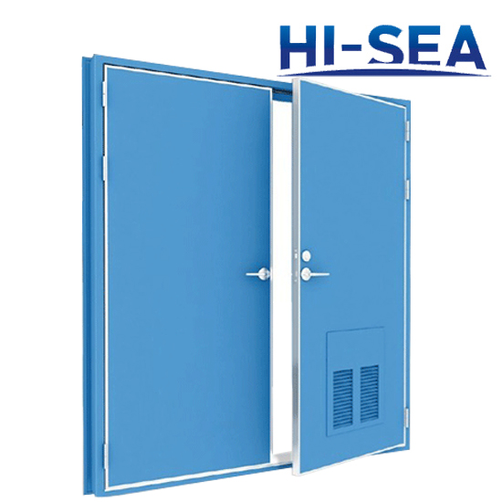B15 and B0 Double-Leaf Fireproof Steel Door