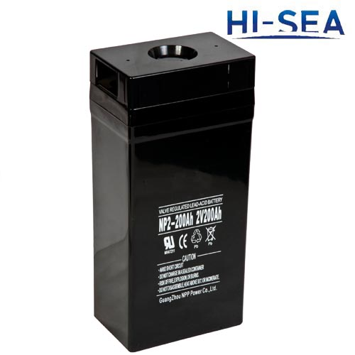 Battery for marine communication system