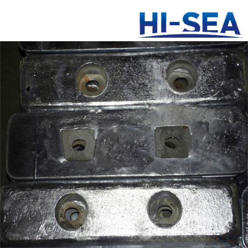 Bolt Connection Type Zinc Anode for Ship Hull