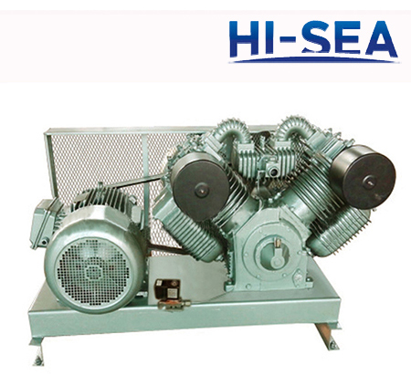 Marine Vertical Low Pressure Air cooling Air Compressor with Belt Unit