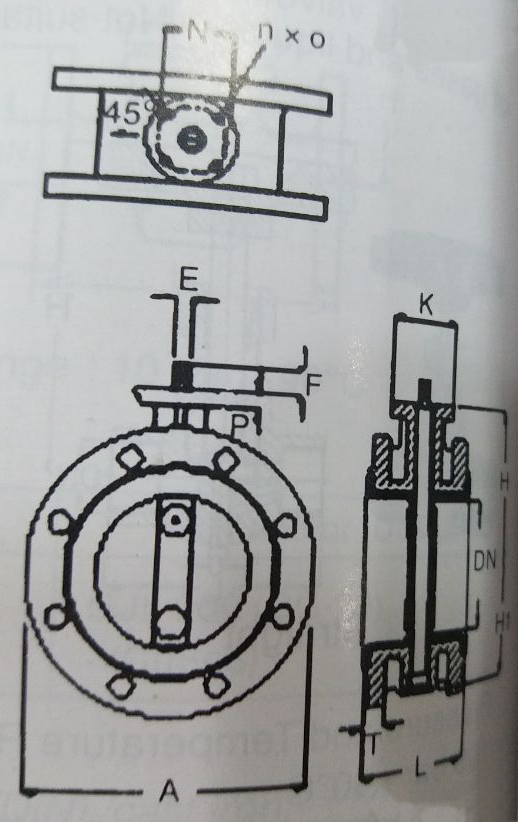 Cast Iron Flanged Type Butterfly Valve