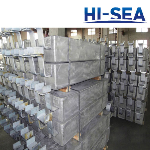 Common Aluminum Anode for Seawater Cooling System