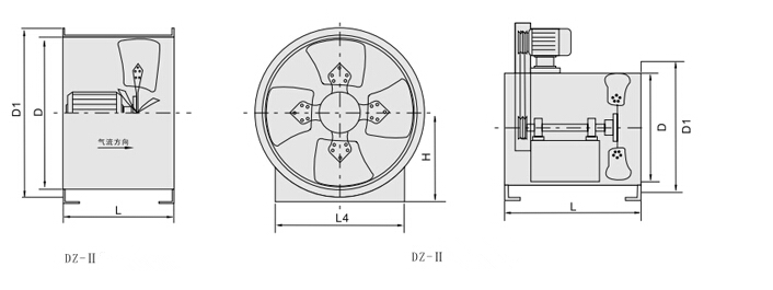 DZ Low-nosie Explosion-proof Axial Flow Fan