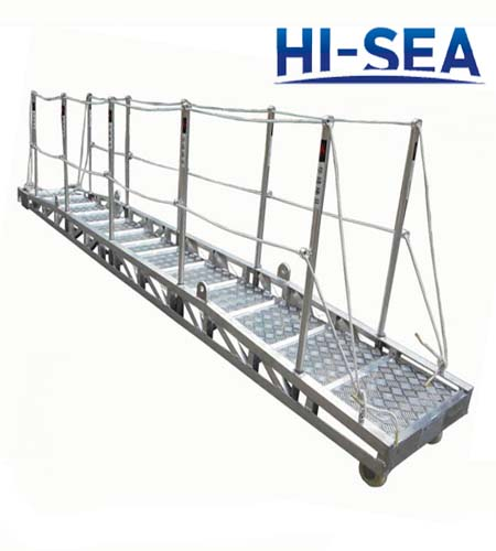 Detachable Type Vessel Aluminum Alloy Wharf Ladder