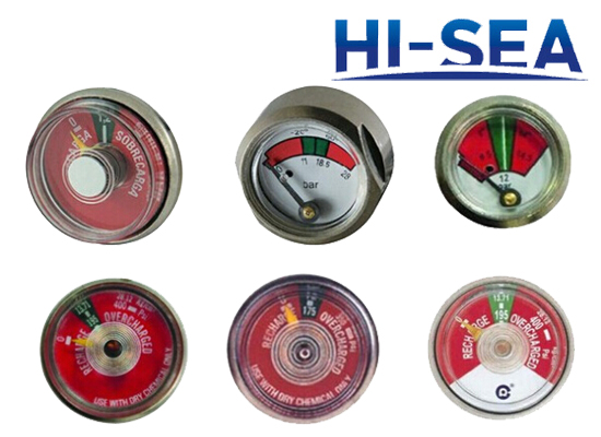 Diaphragm Pipe Pressure Gauge for Fire Extinguisher