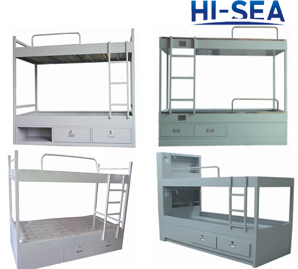 Marine Steel Bunk Bed with Two Drawers