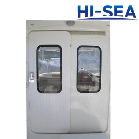 Double-Leaf Sliding Aluminum Door for Wheelhouse