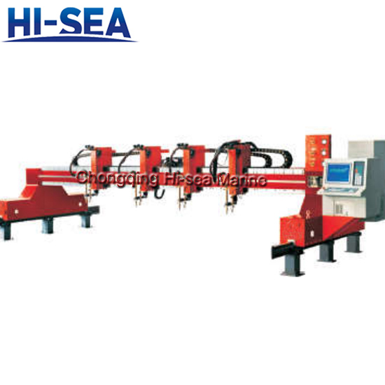 Double-side driven CNC flame cutting machine