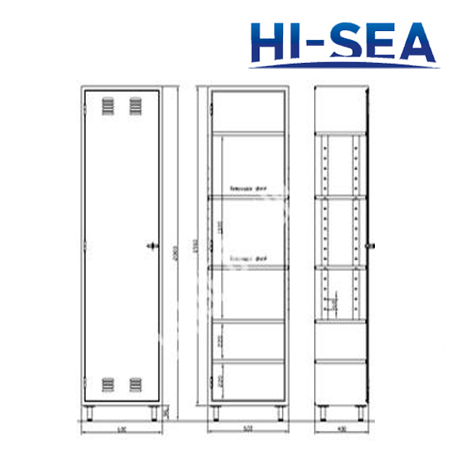 Aluminum Marine Single-tier Locker