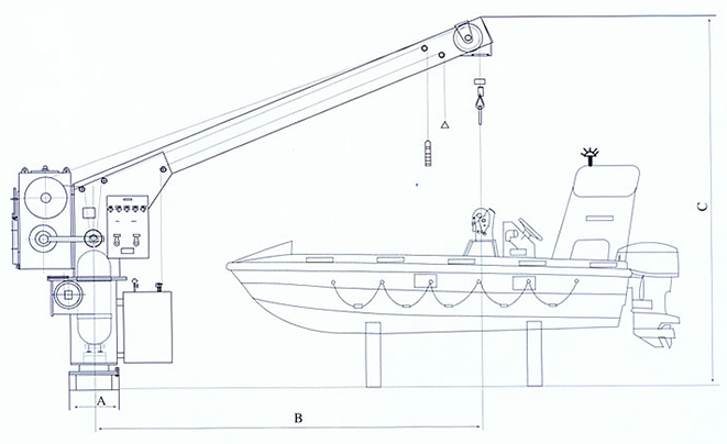 Single Arm Rescue Boat Davit