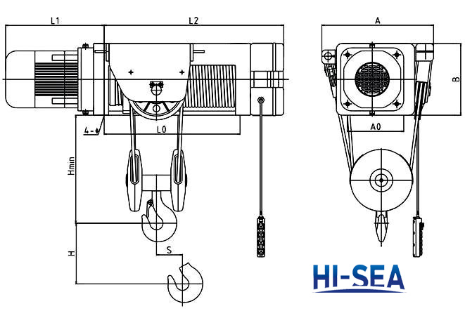 Fixed Type Foot-mounted Electric Hoist