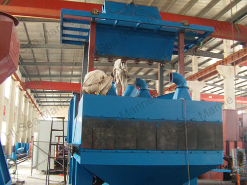 Steel Plate Shot Blasting Painting Machine System