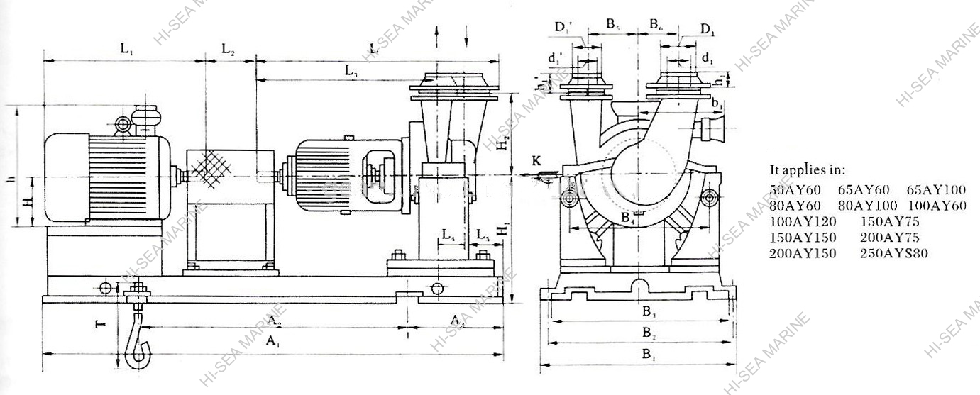 AY Marine Single Two-stage Centrifugal Lubro-Pump
