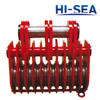 Heavy Duty 10 Wheels Pulley Block