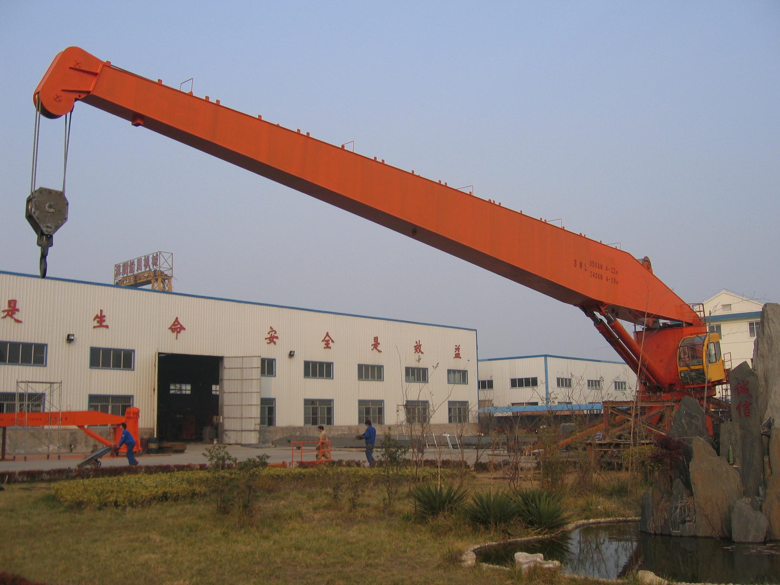 Telescopic Slewing Crane : Knuckle boom crane supplier china marine