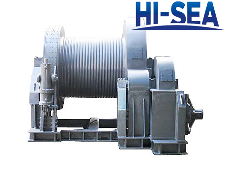 Hydraulic winch for engineering vessel