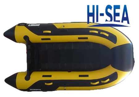 Inflatable boat with slatted floor