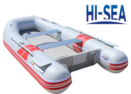Inflatable sport boat with VIB floor