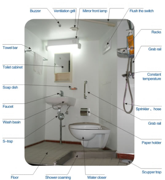 Marine Prefabricated Bathroom Unit