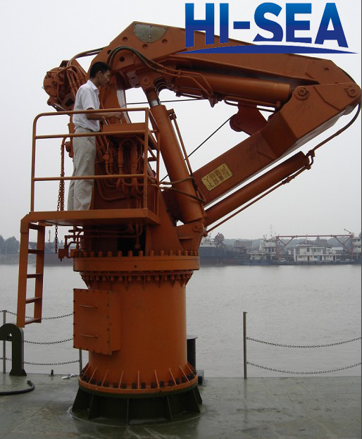 Knuckle Boom Cranes Manufacturers : Deck crane supplier china marine manufacturer hi