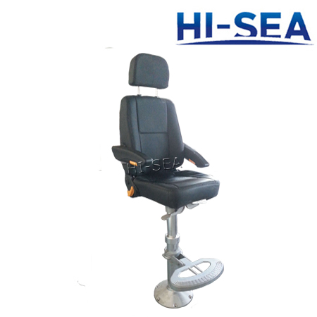 Lightweight Helmsman Seat with Adjustable Armrest