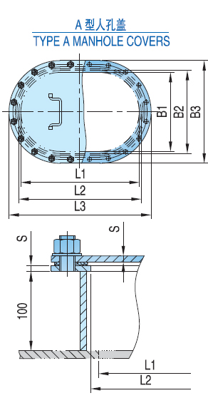 Manhole Cover for Ships Type A