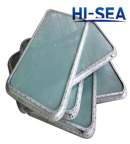 Marine Aluminum Bolted Fixed Rectangular Window for Wheel House