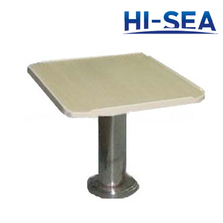 Marine Coffee Table with Stainless Steel Pedestal