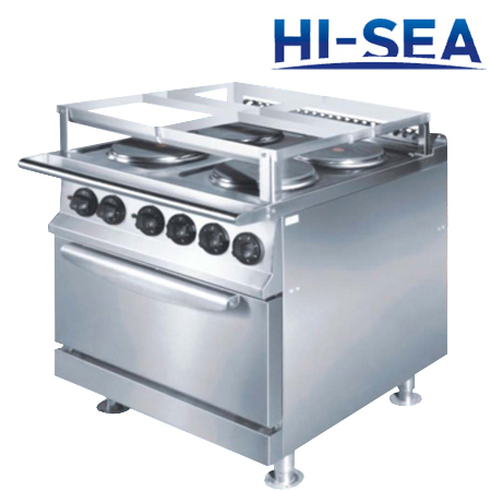 Marine Cooking Range with Oven (Four Hot Plates)